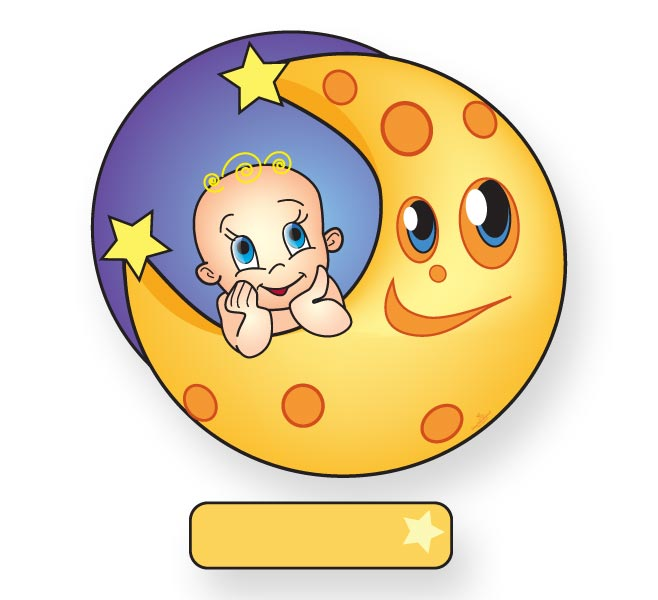 Nieuw geboortebord van baby op de maan goedkoop geboortebord kopen - Bebe ontwerp ...